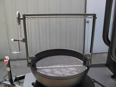 Round Open Pit Grill